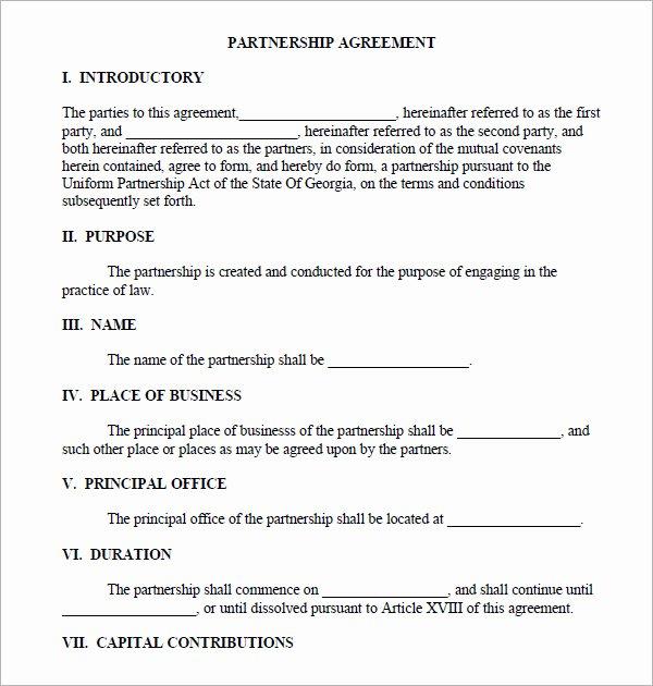 business partnership agreement template