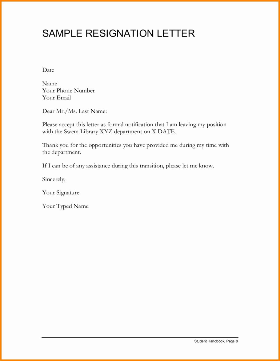 11 Sample Resignation Letter Cashier Resume