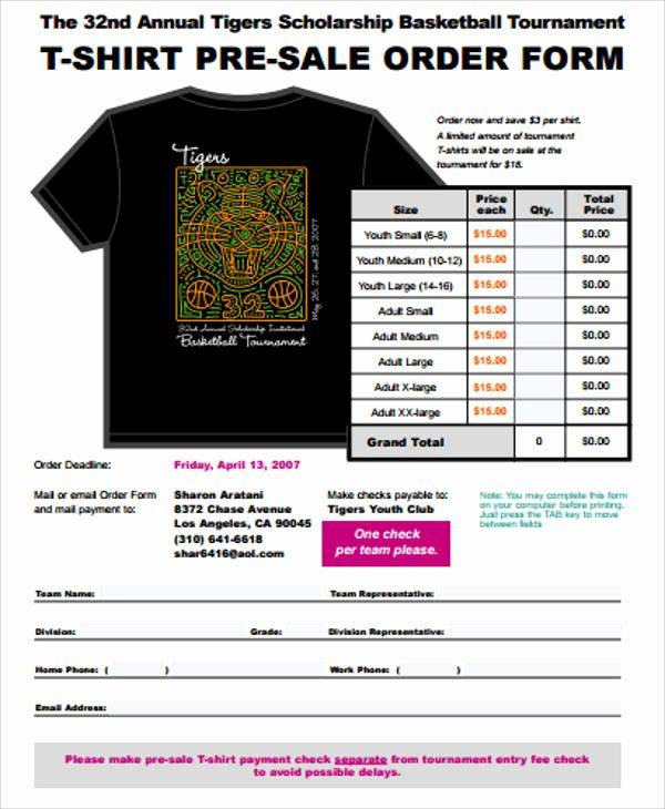 11 Sample Sales order forms