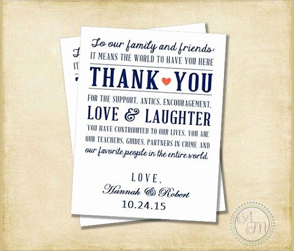11 Sample Wedding Thank You Notes