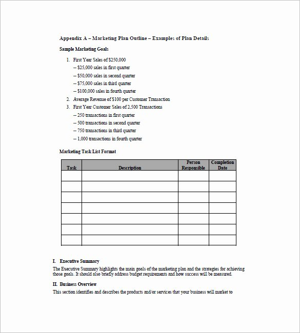 11 Simple Marketing Plan Template Free Sample Example