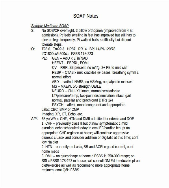 11 soap Note Templates – Free Sample Example format