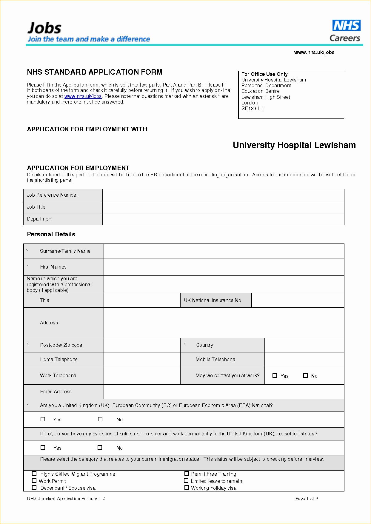 11 Standard Employment Applicationagenda Template Sample