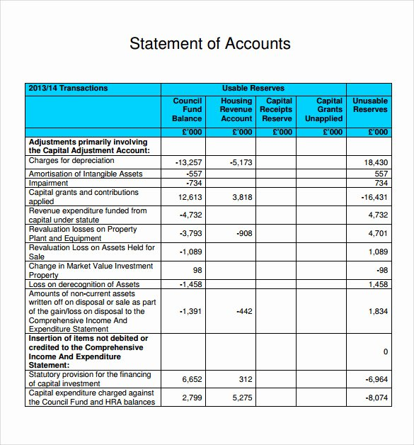 11 Statement Of Account Samples