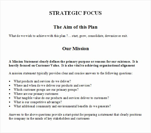 11 Strategic Plan Templates – Free Samples Examples