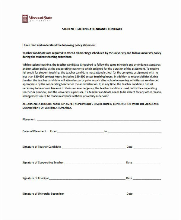 11 Student Contract Samples & Templates