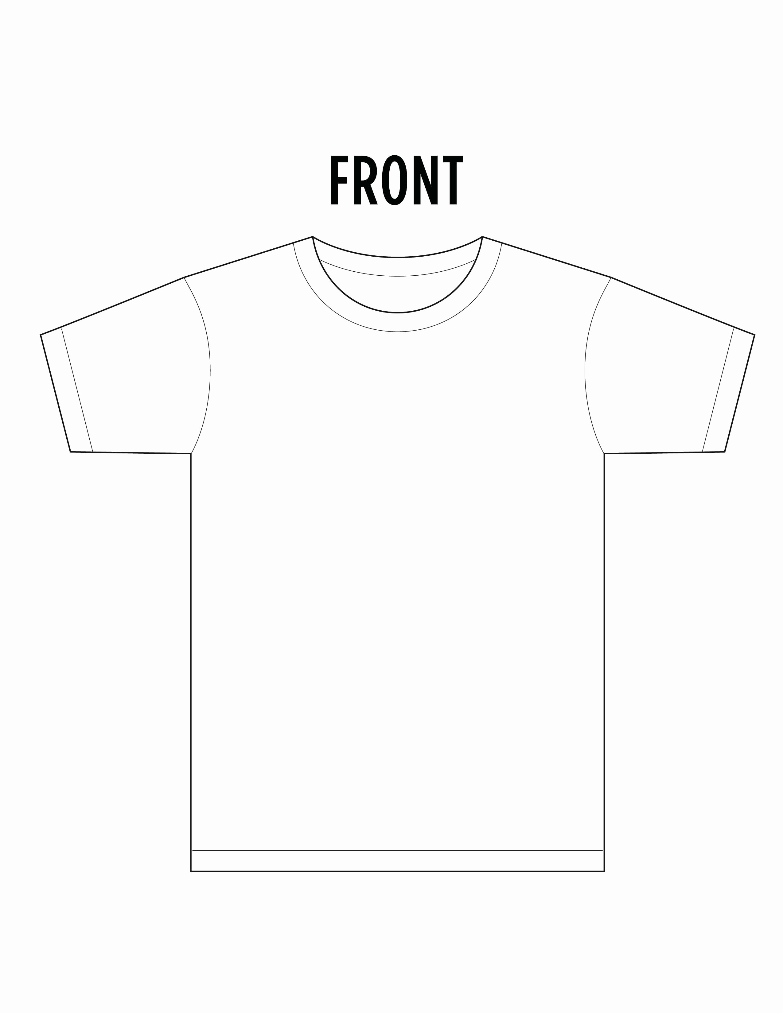 11 T Shirt Template Front and Back T Shirt
