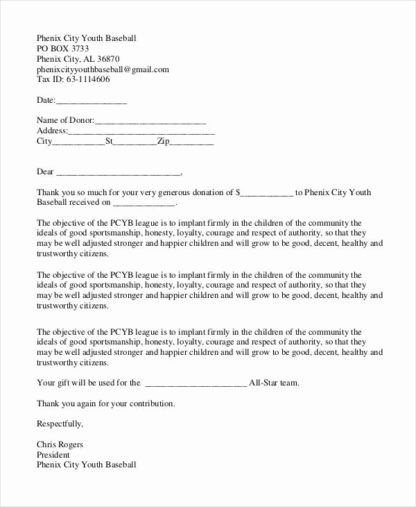 11 Thank You Letter for Donation Doc Pdf
