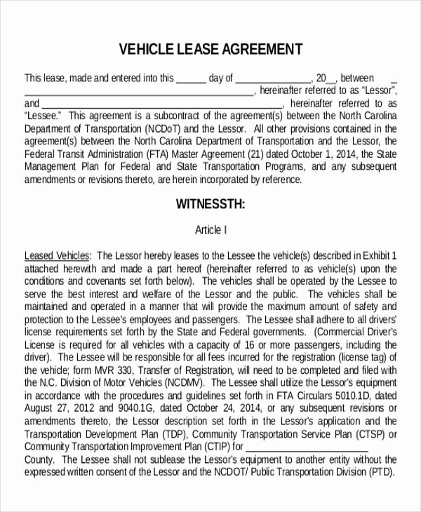 11 Truck Lease Agreement Samples