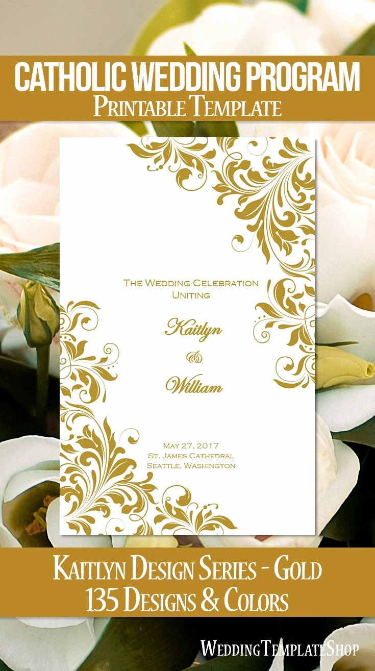 111 Best Catholic Wedding Programs Diy Printable order Of