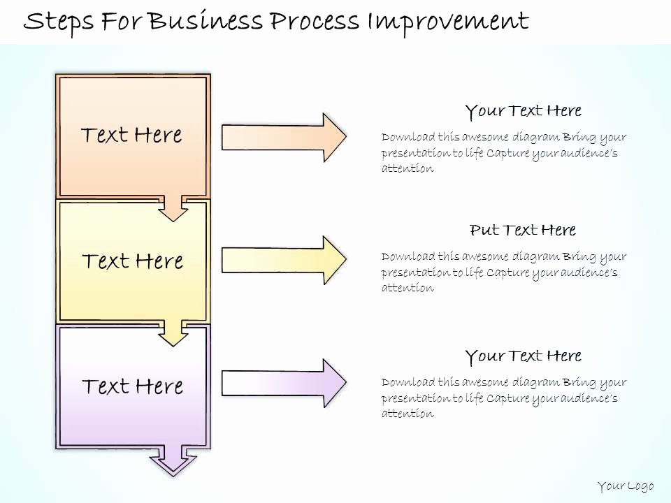 1113 Business Ppt Diagram Steps for Business Process