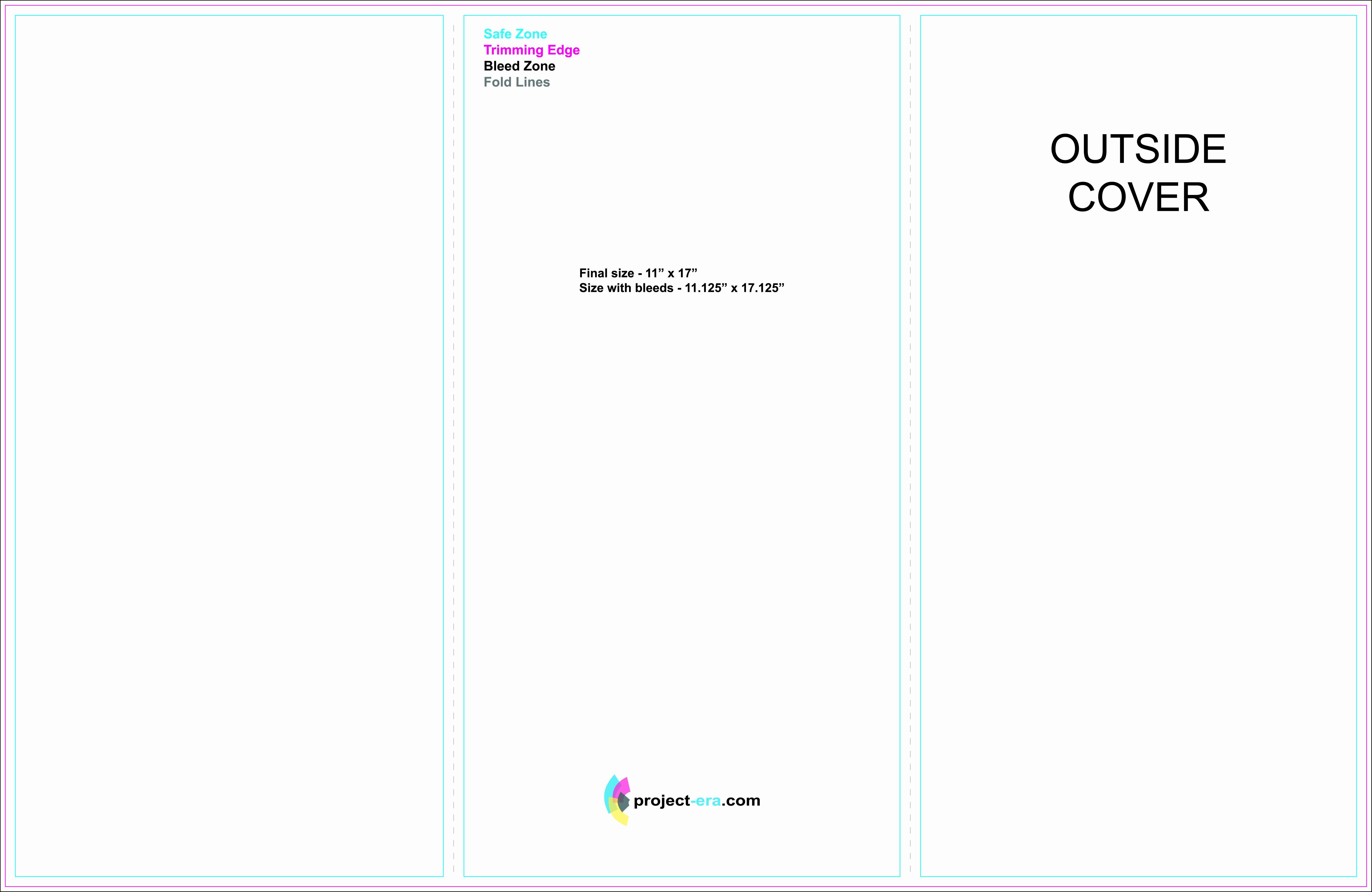 11x17 Brochure Template Illustrator Templates Resume