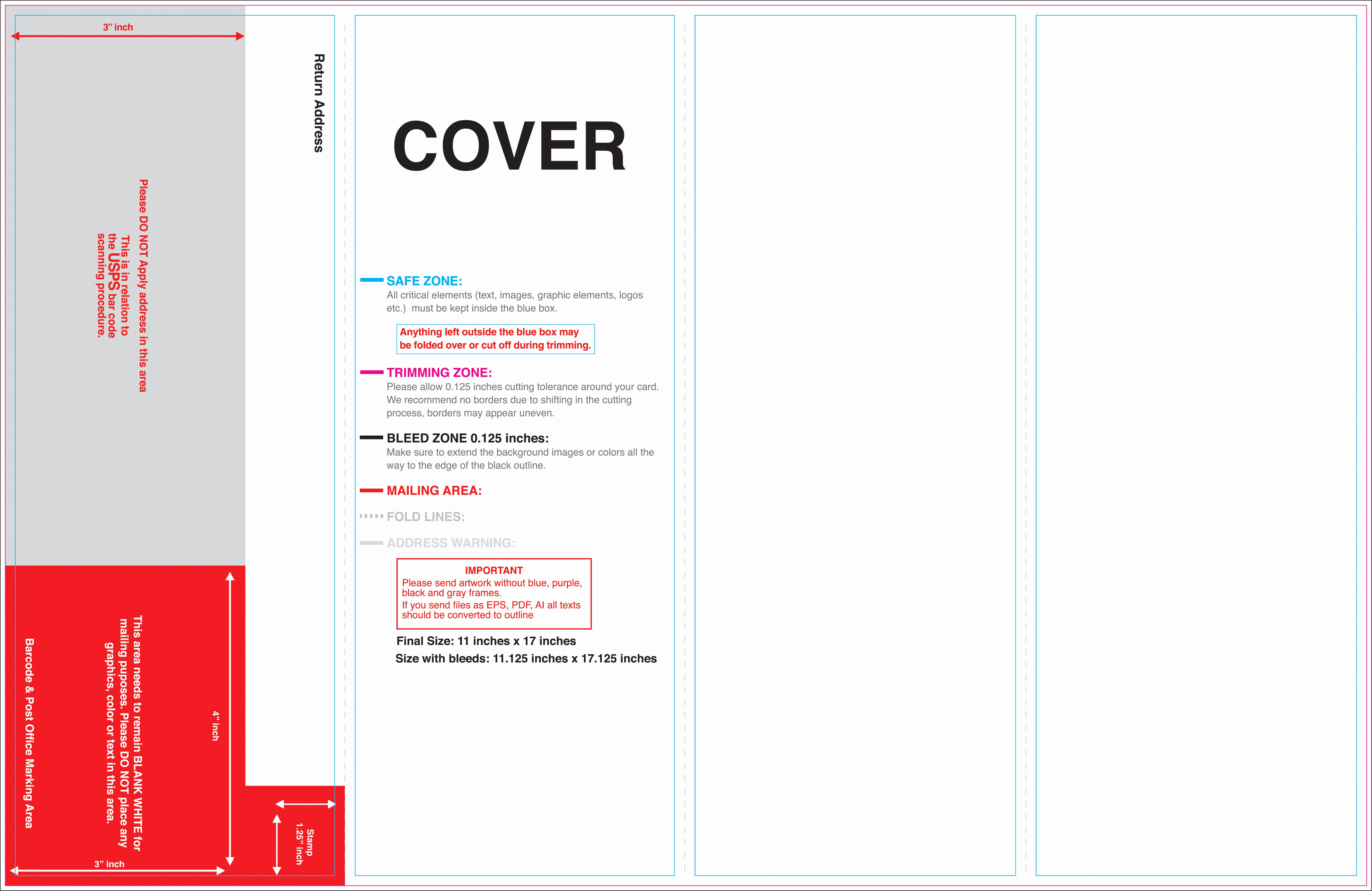 11x17 Brochure Template Indesign Templates Resume