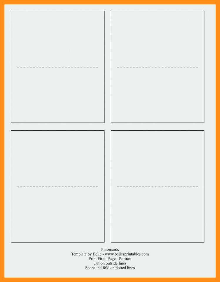 12 13 Blank Quarter Fold Card Template
