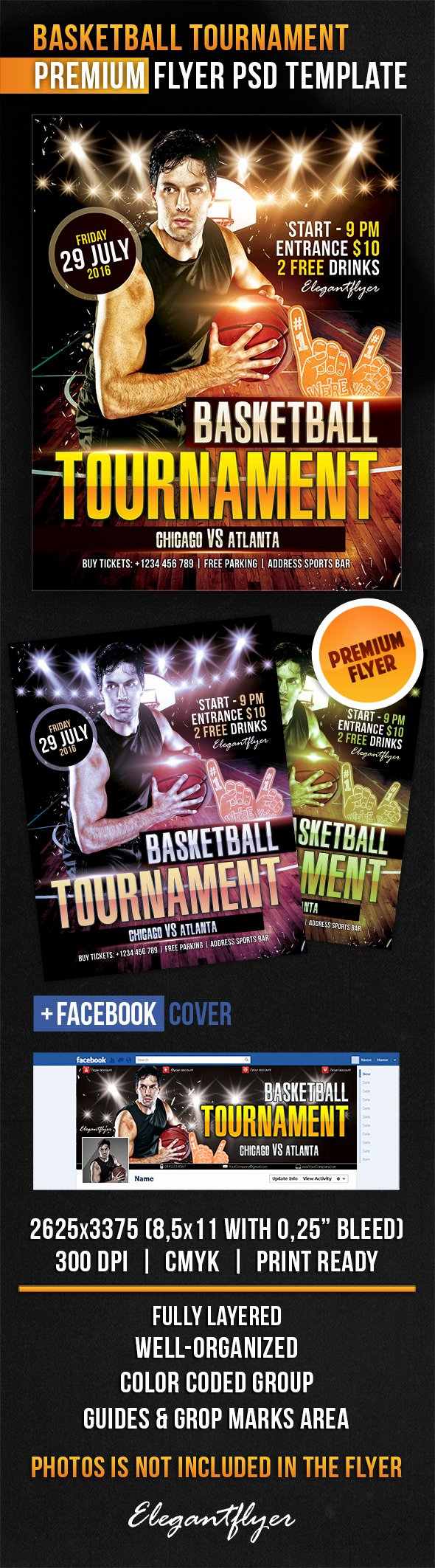 12 Basketball tournament Flyer Psd Templates Free