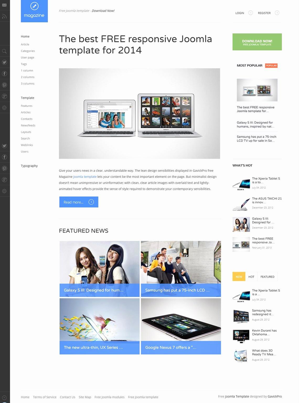 12 Beautiful Joomla 3 2 Responsive Templates Free to Use