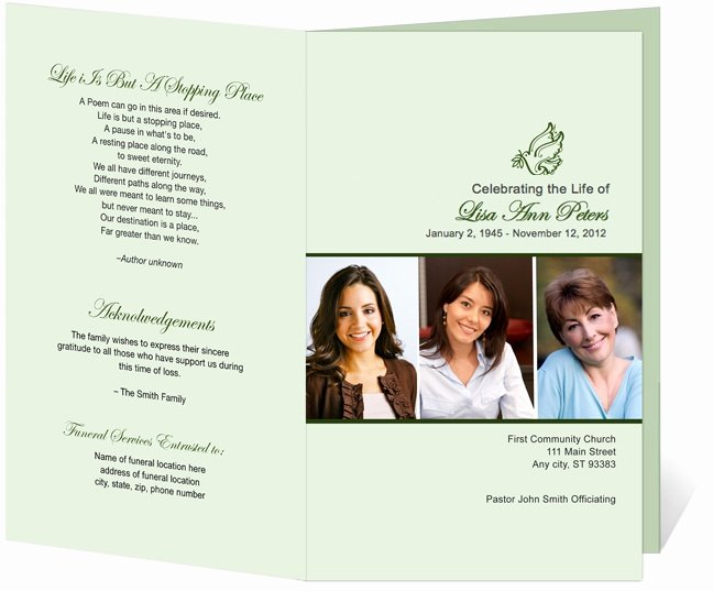 12 Best Cards Funeral Templates & Programs Images On