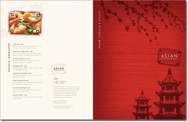 12 Best Chinese Food Restaurant Menu Templates