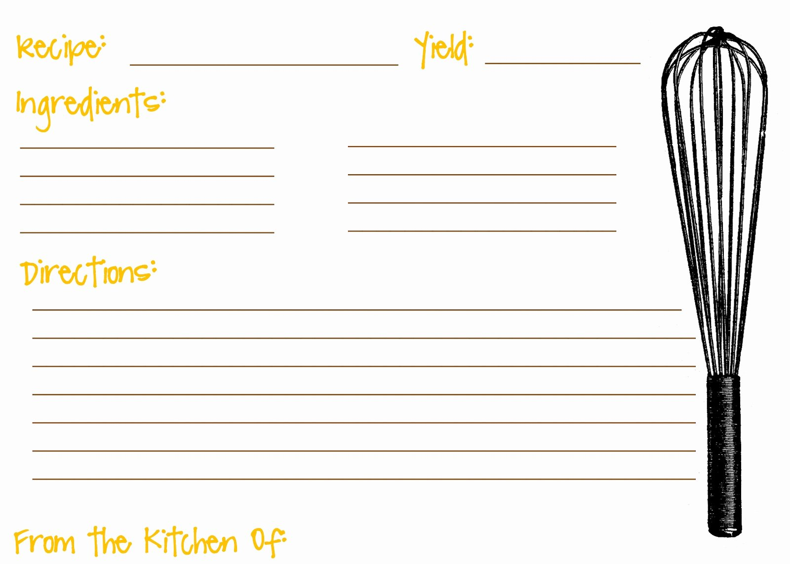 12 Best Of Printable Recipe Cards with Lines Free