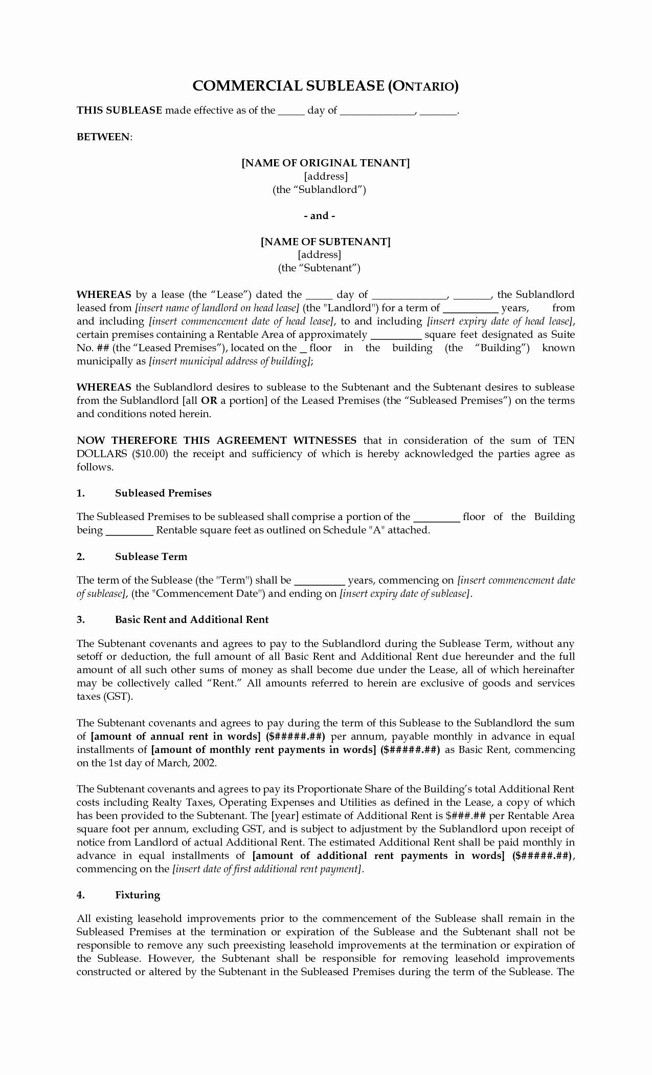 12 Best Of Roommate Sublet Agreement Template