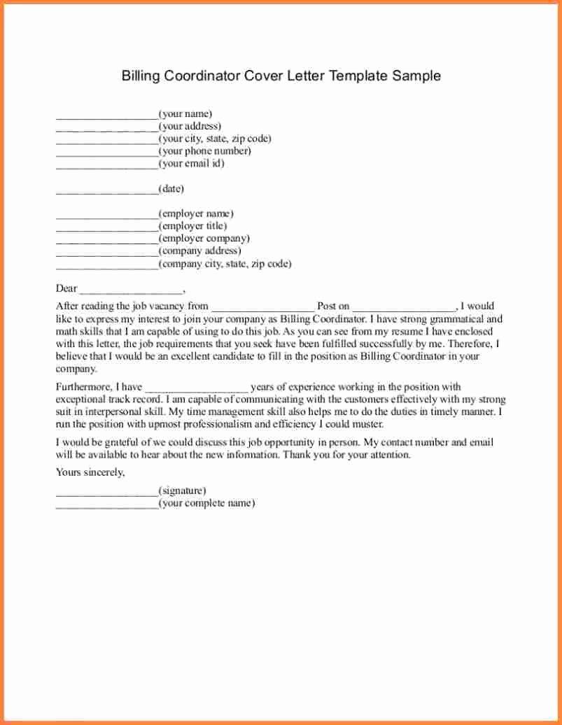 12 Billing Letter format