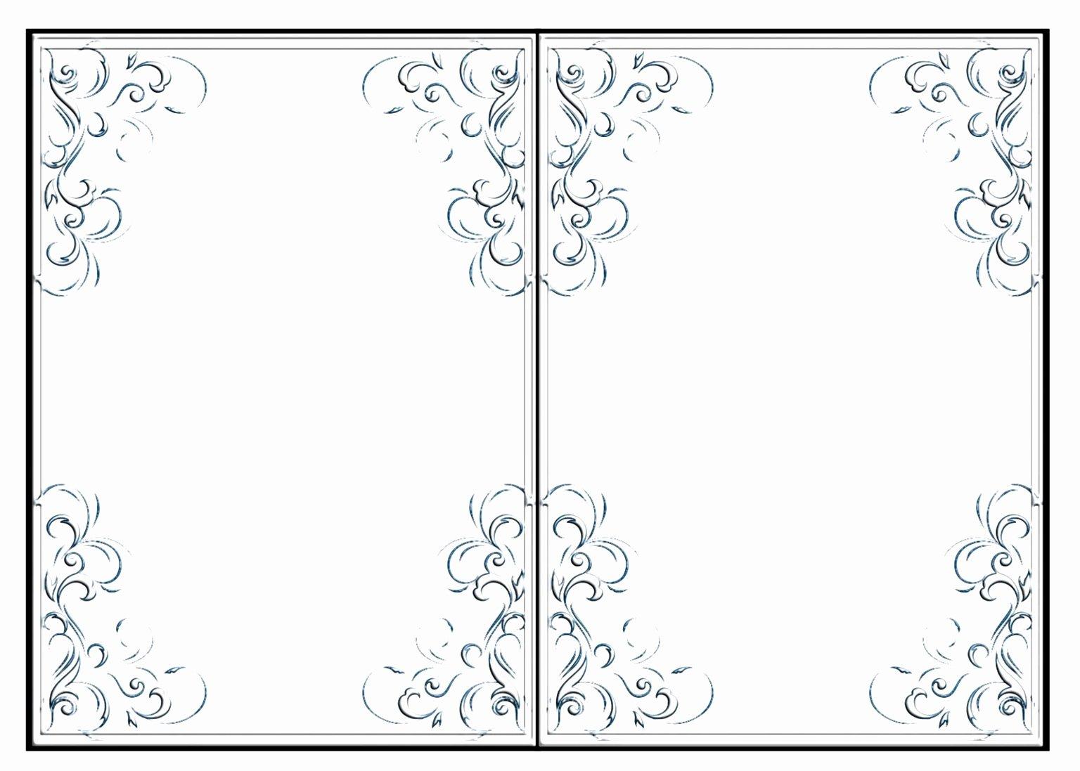 12 Blank Half Fold Card Template Tutaa
