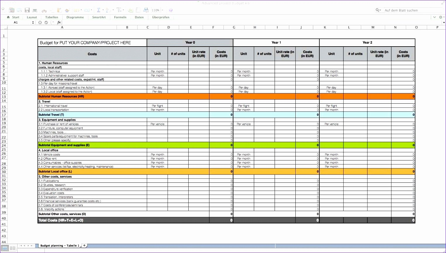 12 Business Case Excel Template Exceltemplates