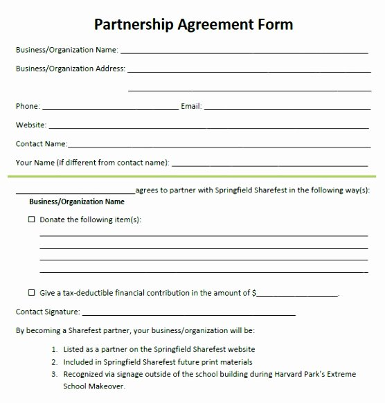 12 Business Partnership Agreement Template Free Download
