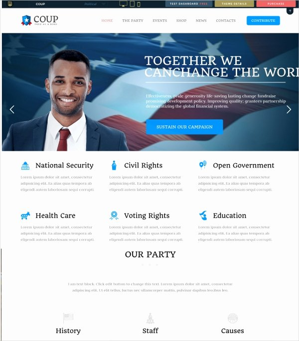 12 Campaign Website themes & Templates