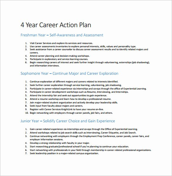 12 Career Action Plan Templates Doc Pdf Excel