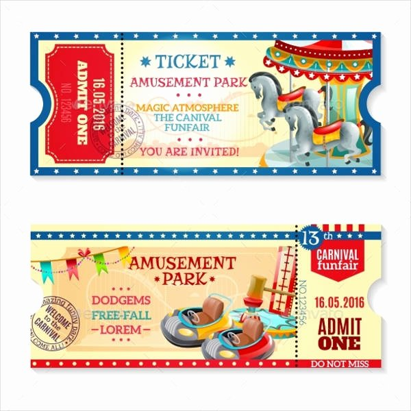 12 Carnival Ticket Templates Free Psd Ai Vector Eps