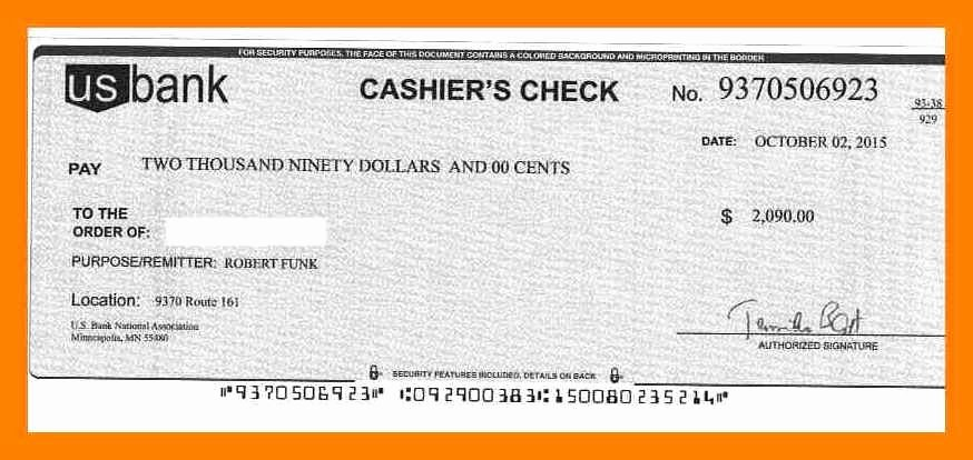 12 Cashier Check Template