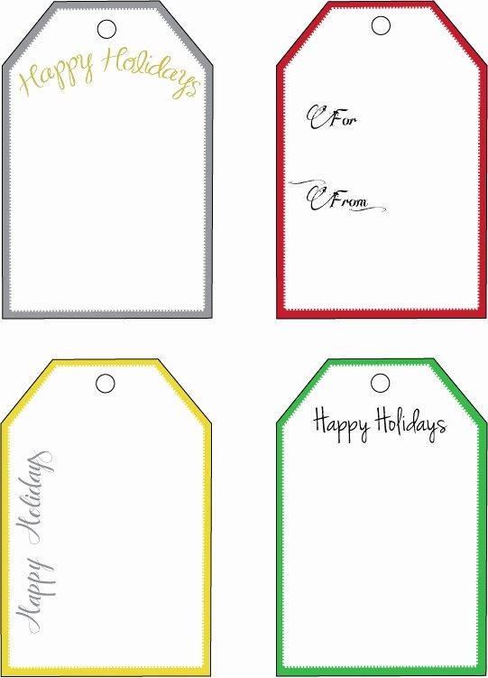 12 Christmas Gift Tag Templates Free Printable
