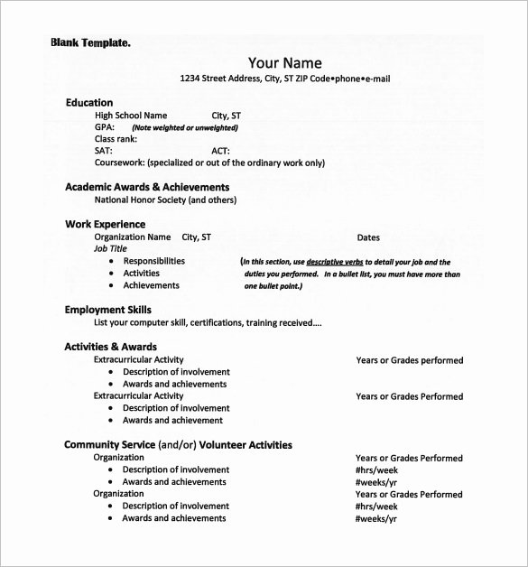 12 College Resume Templates Pdf Doc