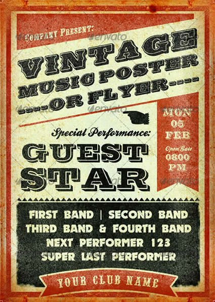 12 Concert Flyer Template Free Music Concert