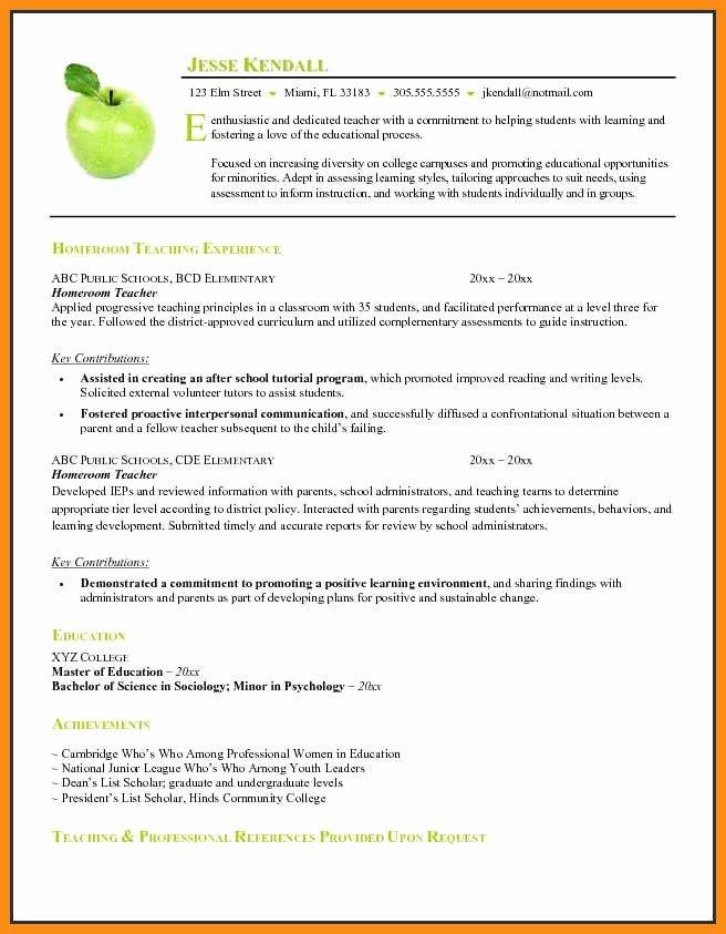 12 Curriculum Vitae Template for Teachers