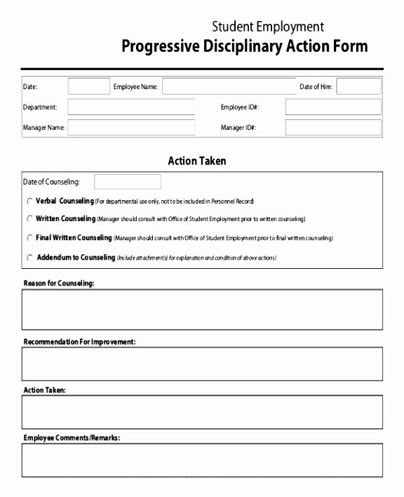 12 Disciplinary Action forms Free Template Rucua