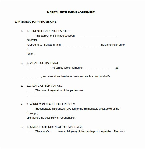 12 Divorce Agreement Templates Pdf Doc