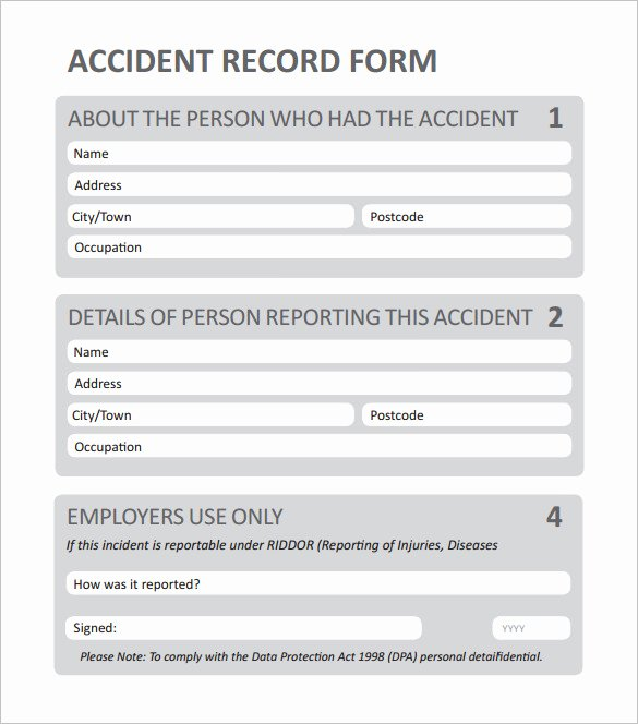 12 Employee Incident Report Templates Pdf Doc
