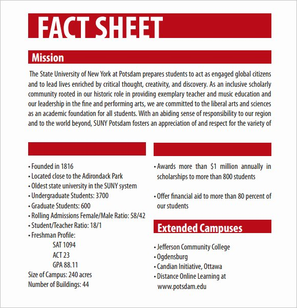 12 Fact Sheet Templates Excel Pdf formats