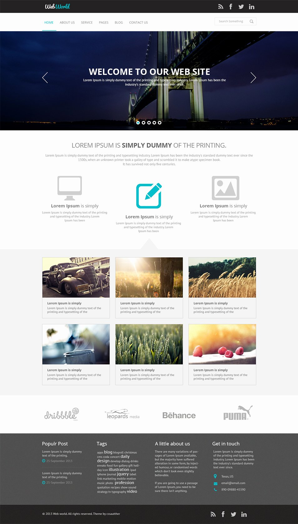 12 Free Business Website Template Psd Business