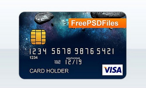 12 Free Credit Card Design Psd Templates