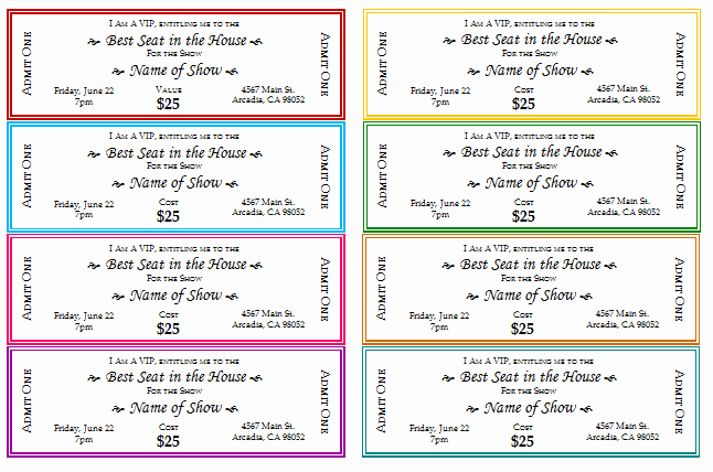 12 Free event Ticket Templates for Word Make Your Own