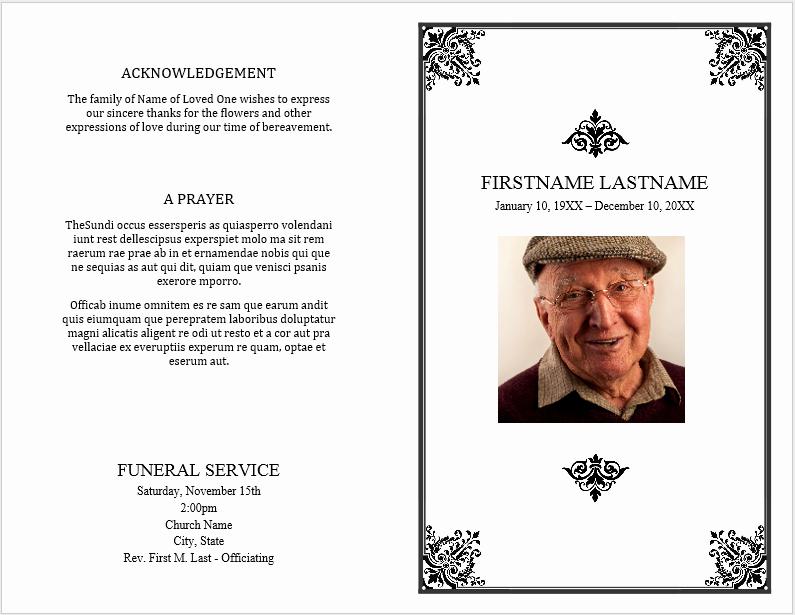 12 Free Funeral Brochure Templates Bates Designs