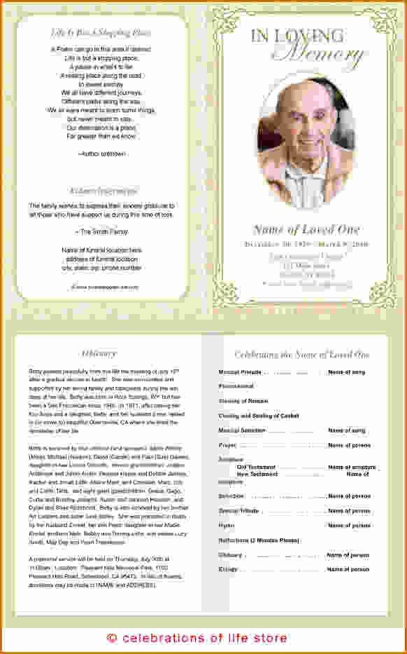 12 Free Printable Funeral Program Template