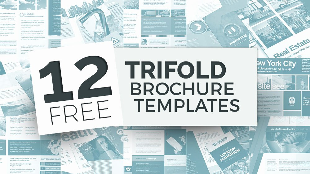 12 Free Tri Fold Brochure Templates for Shop