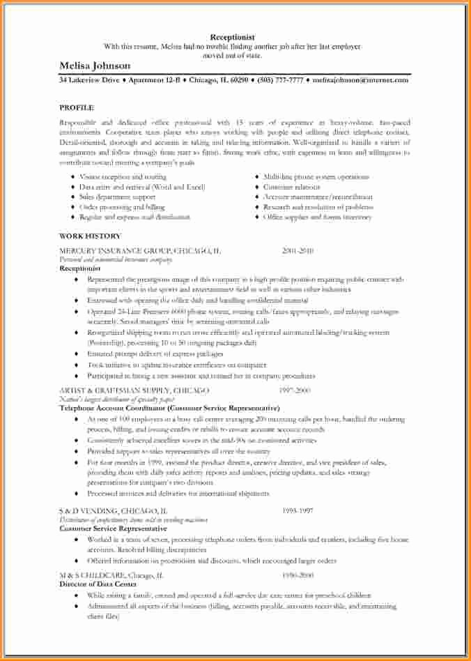 12 Front Office Receptionist Resume
