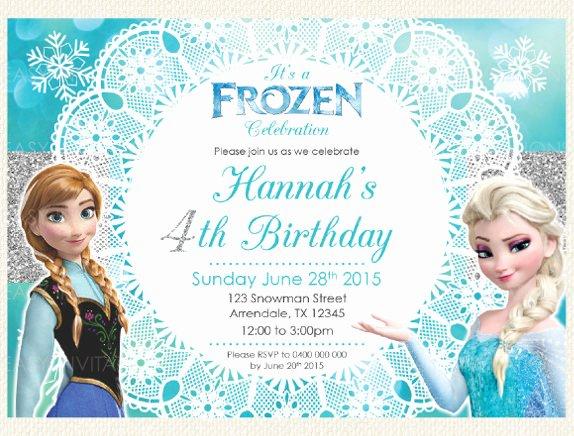 12 Frozen Birthday Invitation Psd Ai Vector Eps
