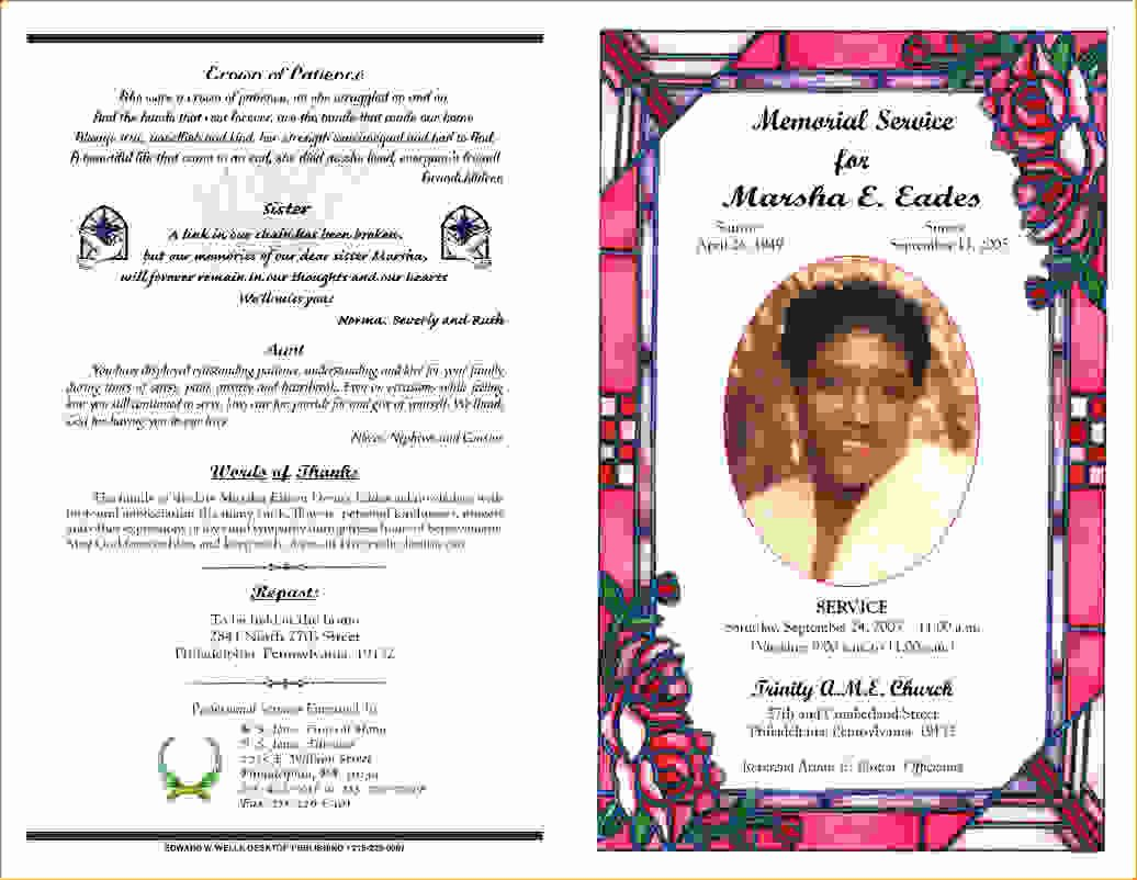 12 Funeral Programsagenda Template Sample