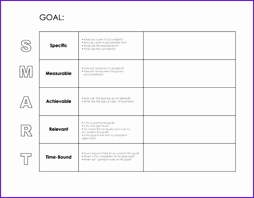 12 Goals Template Excel Exceltemplates Exceltemplates